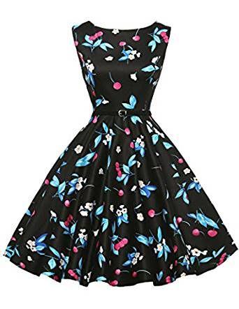 50s Retro Vintage Rockabilly Kleid Partykleider Cocktailkleid ...