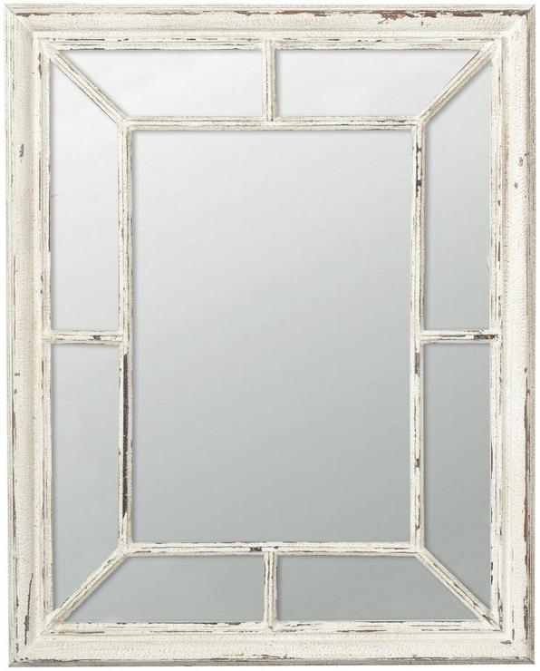 Trevarno Window Mirror Distressed Wood From OKA