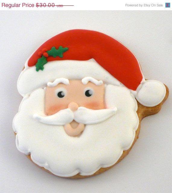 Sale Decorated Cookies For Christmas Santa Claus 1 Dozen