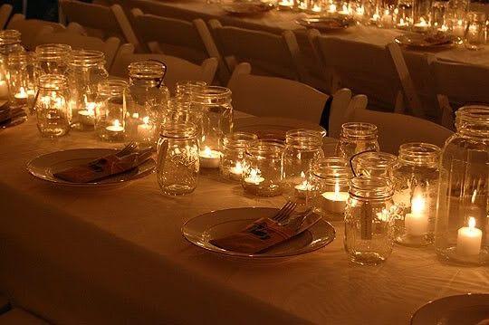 Lighted Center Pieces Mason Jar Centerpieces Mason Jar Lighting Jar Centerpieces