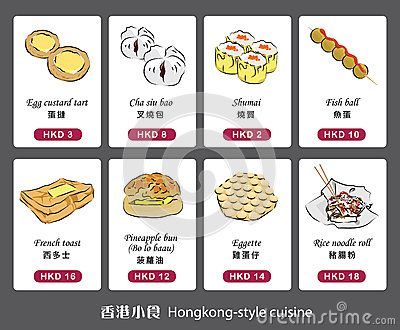 Vector Graphic Of Hongkong Style Cuisine Picture Store Hong Kong Sketch Book