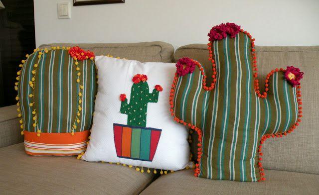 Guache Atelier: Almofada de cactus | Almofadas criativas ...