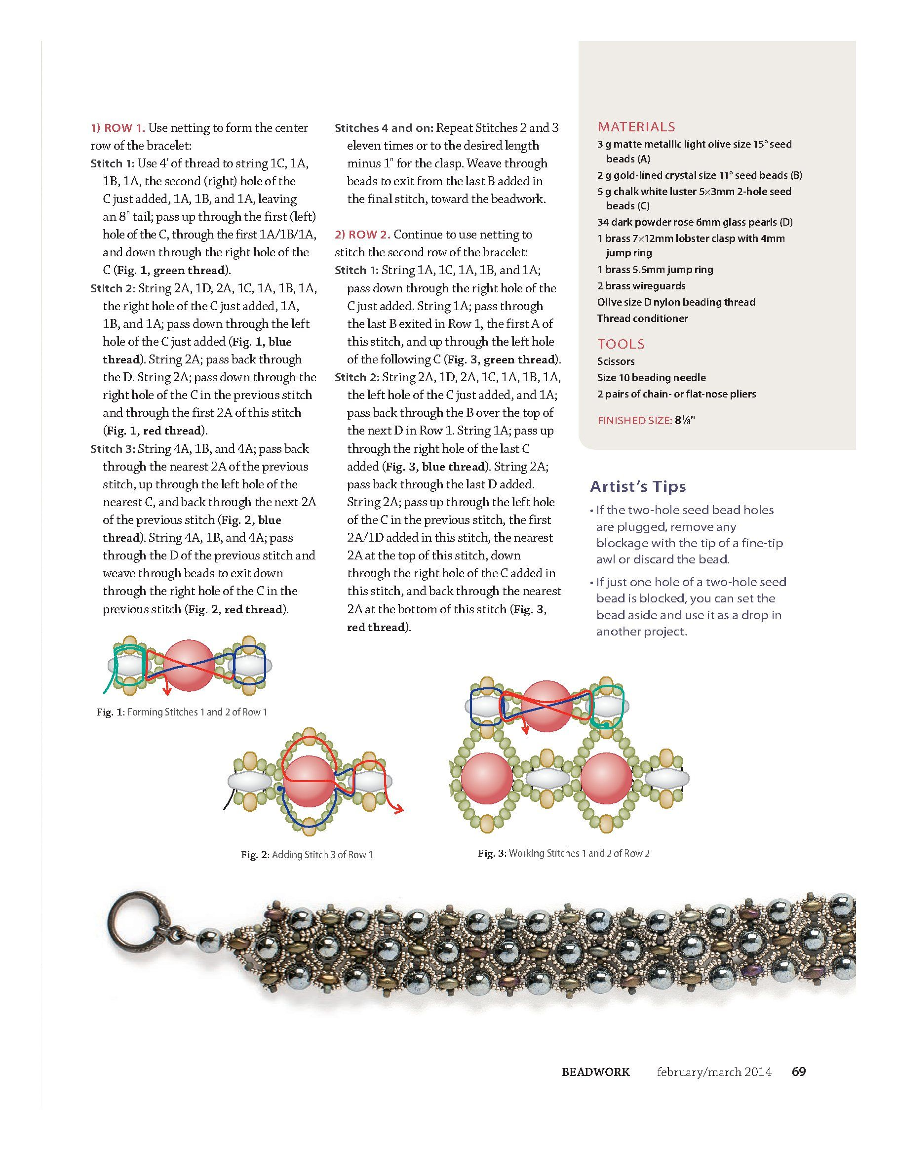 FREE Tutorial for PRIMROSE PATH Bracelet Page 2 of 3
