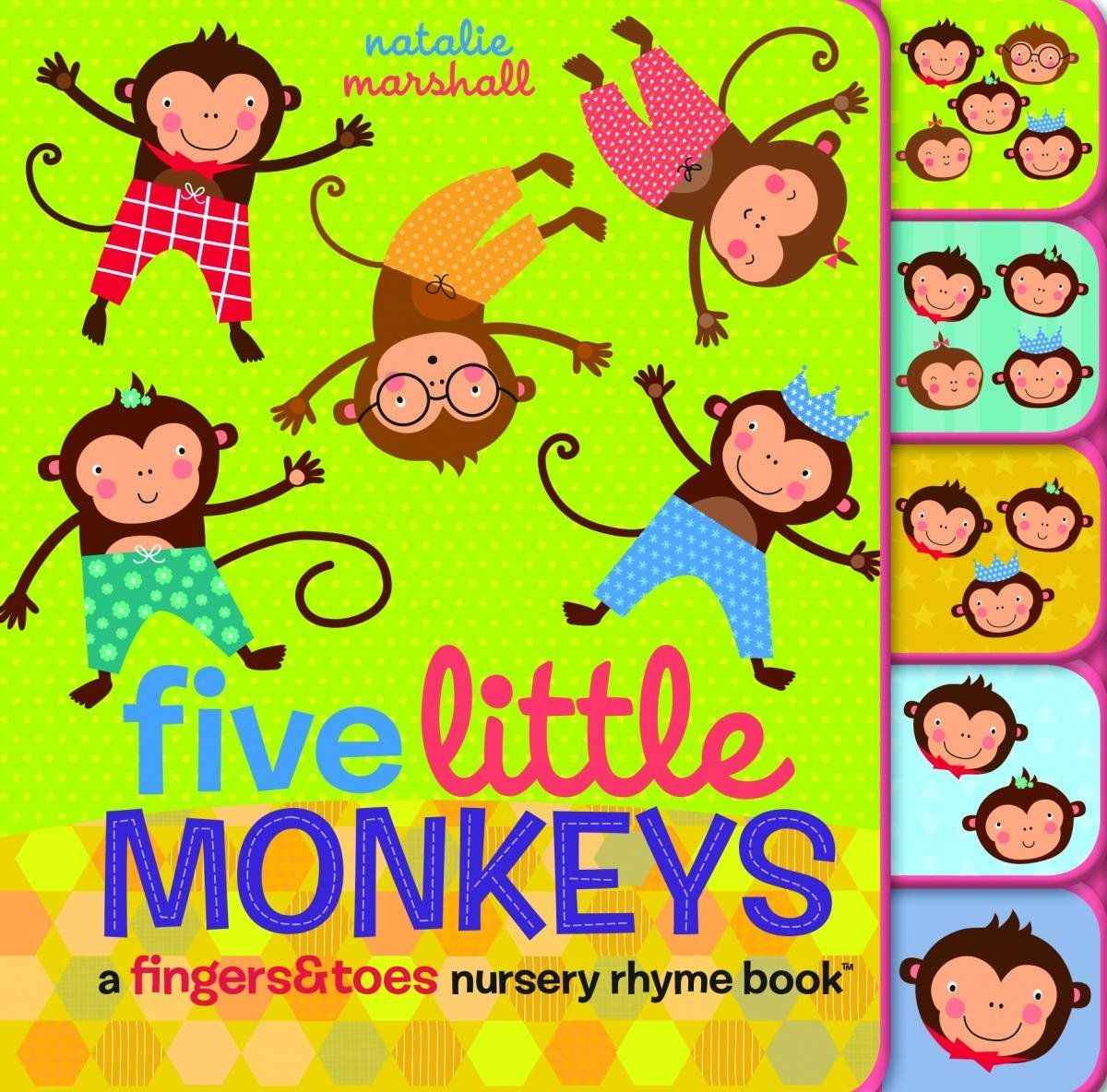Five Little Monkeys A Fingers Amp Toes Nursery Rhyme Book