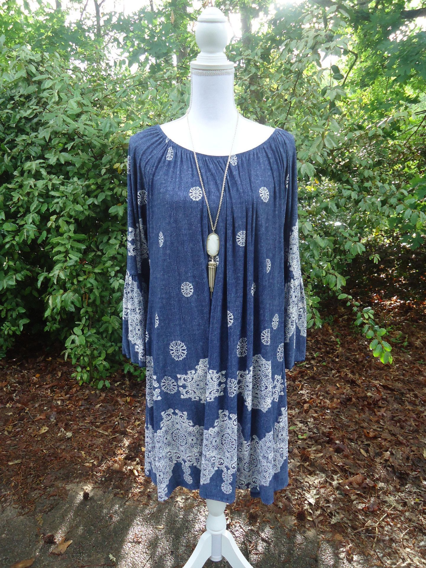 Honeyme 2B Together Navy White Lace Tunic Dress - Plus   outfits ...