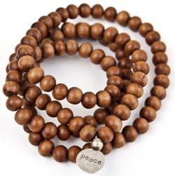 sandalwood mala from ashramchic: simple, timeless, and says it all.