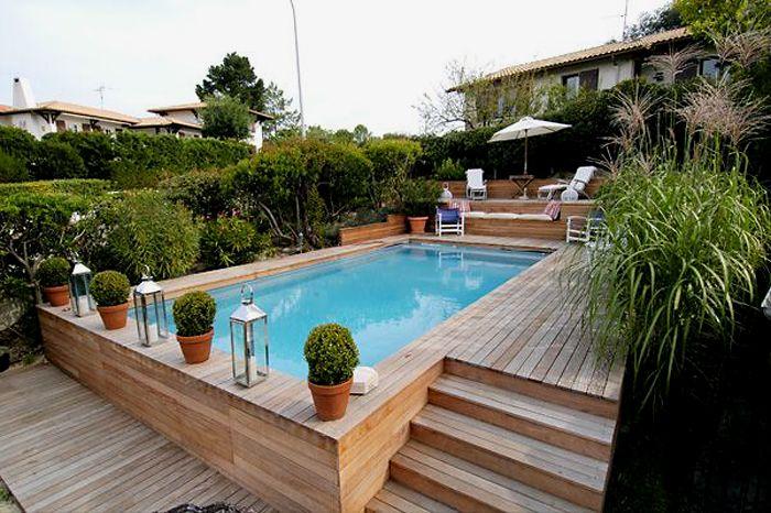 Piscine Plus Idée déco Pinterest Piscines, Piscine bois et - terrasse bois avec bassin