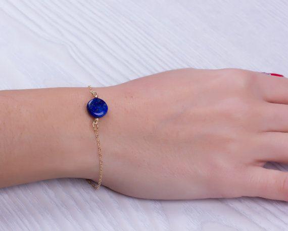 blue lapis bracelet lapis lazuli jewelry something blue blue bridesmaid Lapis lazuli bracelet Adrasteia stone bracelet gold bracelet