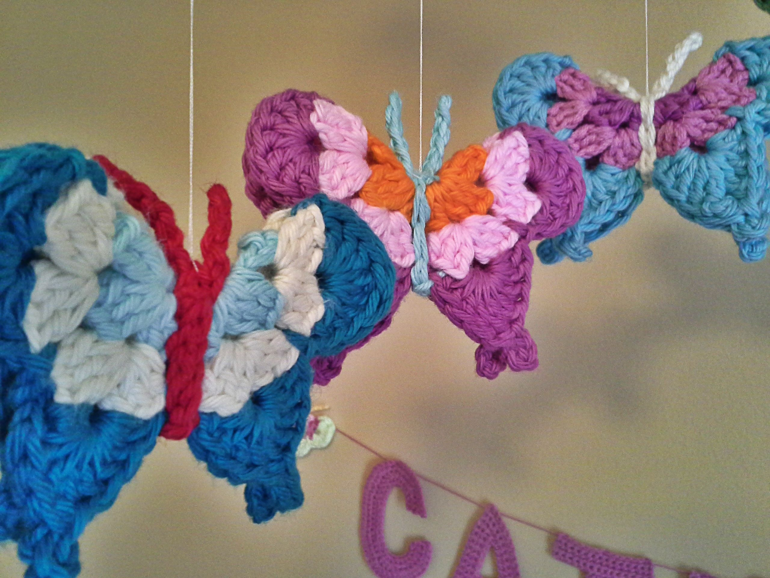 Tutorial For Crochet Butterfly Mobile Great For Baby Girls Nursery