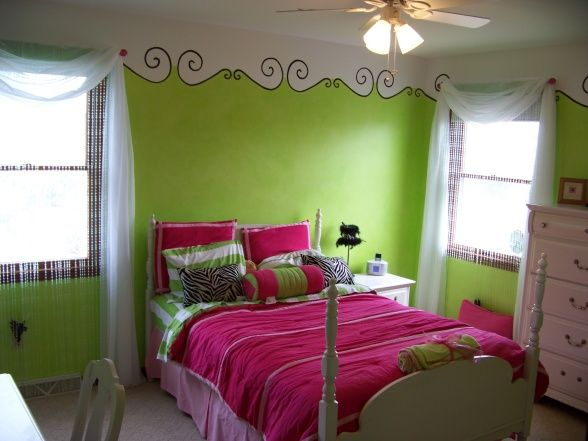 Best Painted Stencil Border Girls Room Cute Arredamento 400 x 300
