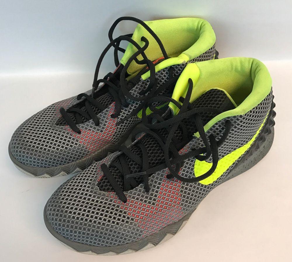 7864bb77304 Nike Kyrie 1 Dungeon Sz 10.5 Men s Shoe 705277-270 Gray Neon Yellow Sneakers   Nike  BasketballShoes