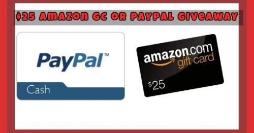 $25 Amazon gift card or Paypal Cash Back to School Giveaway