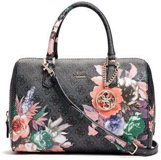 4ef3609700c4 GUESS Linea Floral-Print Logo Box Satchel - ShopStyle | HANDBAGS ...