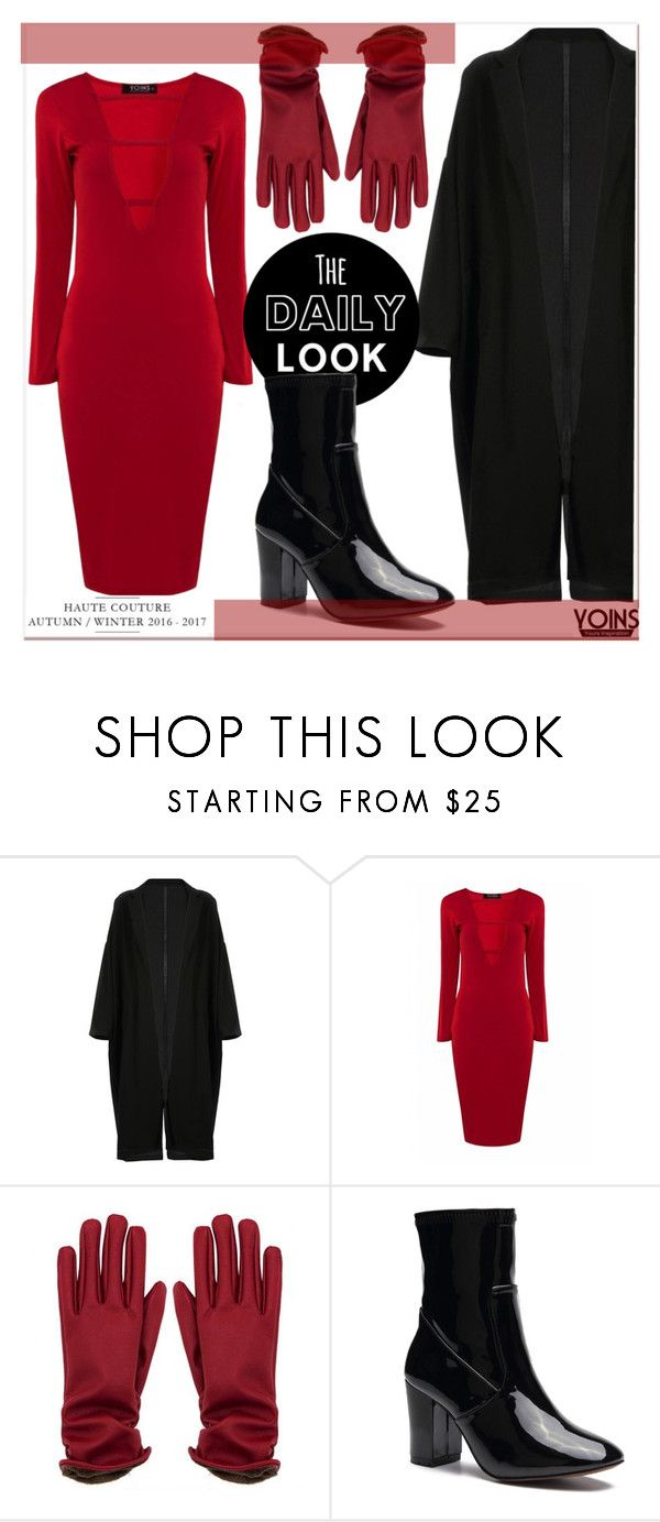 """""""RED & BLACK x YOINS"""" by gigi-lucid ❤ liked on Polyvore featuring yoins, yoinscollection and loveyoins"""