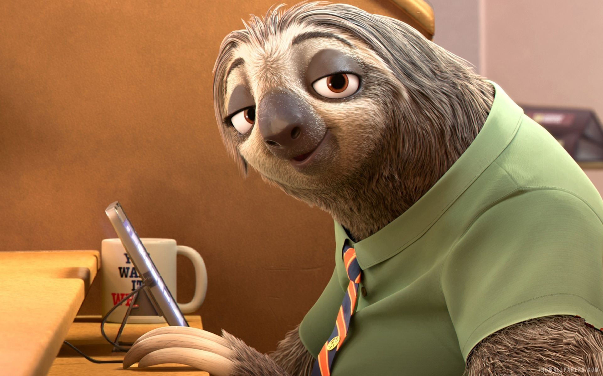 Sloth in Zootopia Movie HD Wallpaper - iHD Wallpapers