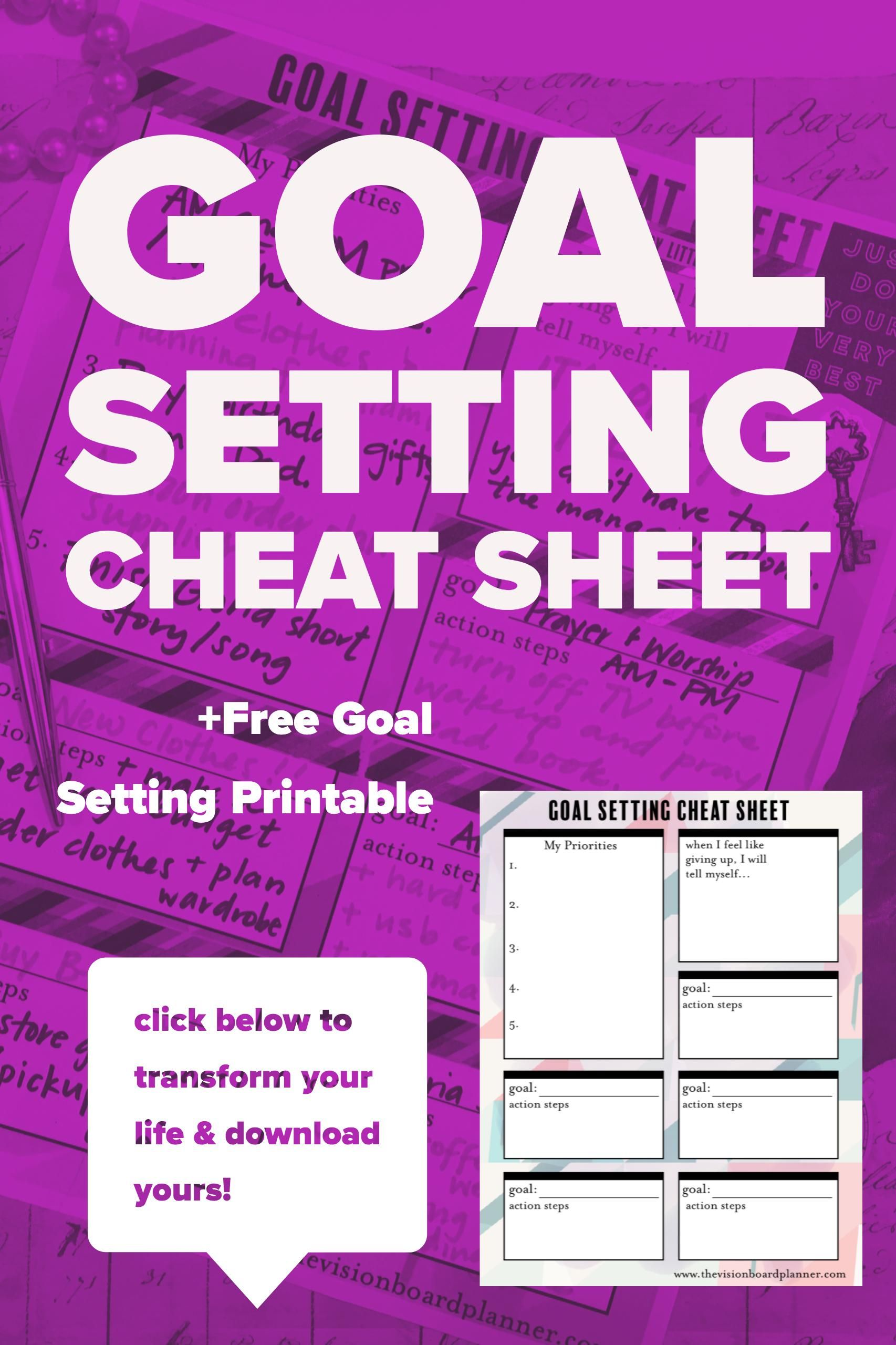 Wanna Set Goals Easily Amp Quickly This Worksheet Will