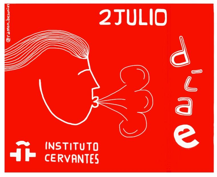 El #InstitutoCervantes nos anima a celebrar hoy el #díaE #díadelespañol Y qué mejor manera de hacerlo que leyendo, escribiendo, hablando, disfrutando de nuestra #lenguaSmadre ¡Soplad palabras, a ser posible dulces! #enclaveELE #ELE Vídeo promocional: https://www.youtube.com/watch?v=JBEomboXmTw