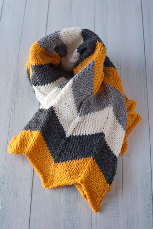 Manta para bebé con estampado chevron | mantas ganchillo | Pinterest ...