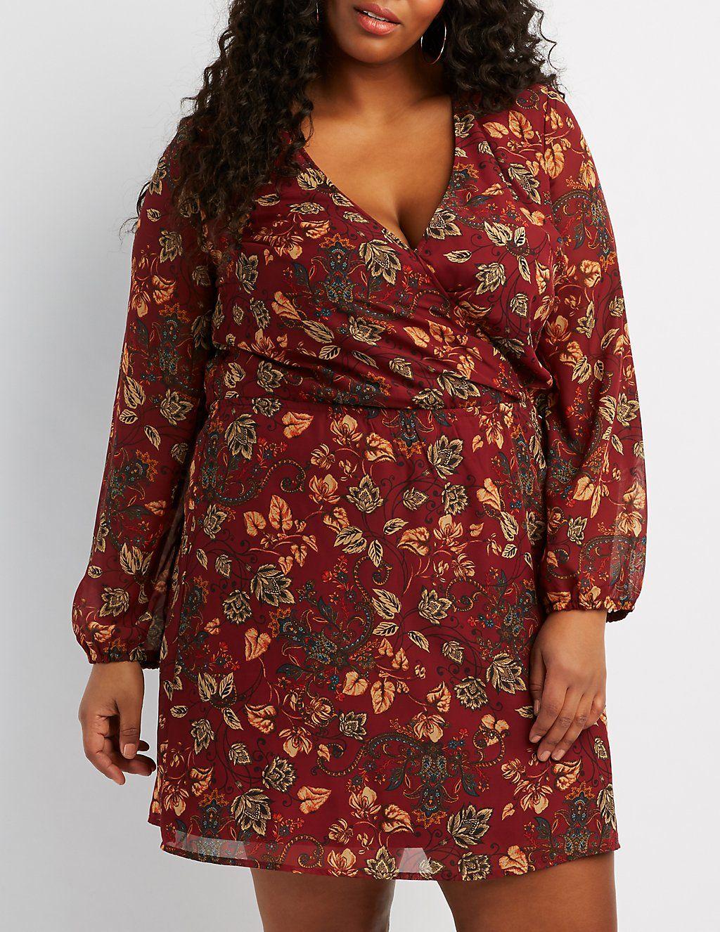 Plus size floral surplice dress surplice dress long balloons and