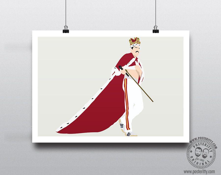 FREDDIE MERCURY Minimalist Music Poster Posteritty Minimal Print Queen Crown