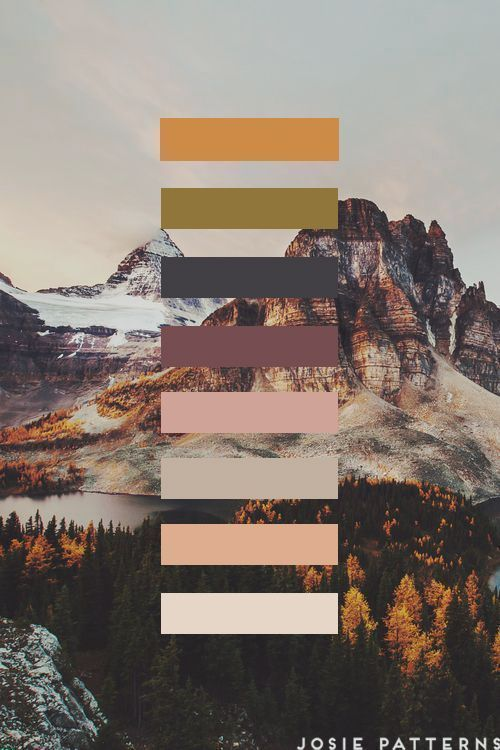 Photo of 'Starry Mountain !' Poster by JosiePrints in 2020   Nature color palette, Fall color palette, Color