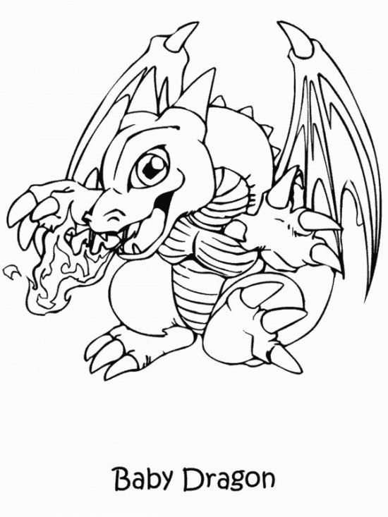 Printable Yugioh Coloring Pages Dragon Coloring Page Cute
