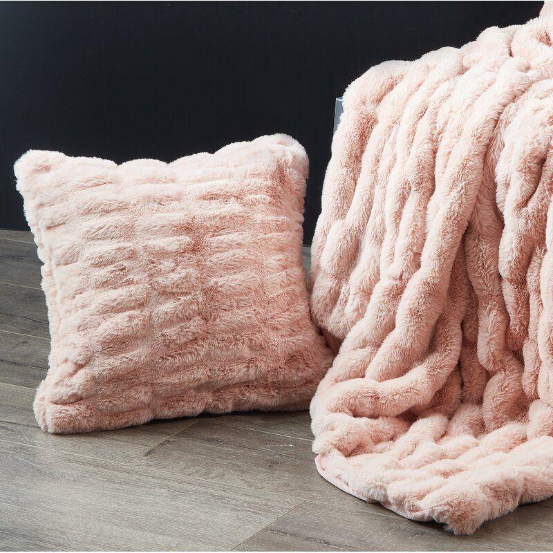 Lam Sculpted Faux Fur Throw Pillow Fur Throw Pillows Faux Fur Throw Pillow Throw Pillows