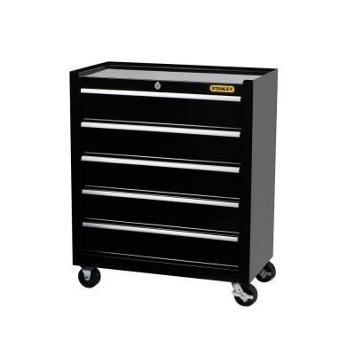Z Nightstand Stanley 24 In W 5 Drawer Tool Cabinet Black C 305bs The Home Depot Tool Box Cabinet Tool Storage Cabinets Tool Cabinet