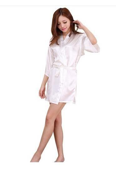 Gender  Women Item Type  Robes Dresses Length  Knee-Length Model Number   8888 Pattern Type  Solid Brand Name  CINOLE Sleeve Length(cm)  Short  Material  Silk ... d3db0594b369
