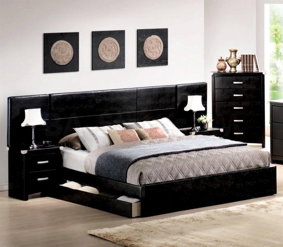 King Size Plattform Bett Von Ikea Modernes schlafzimmer