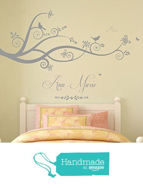 Personalised name tree branches nature vinyl wall art sticker mural