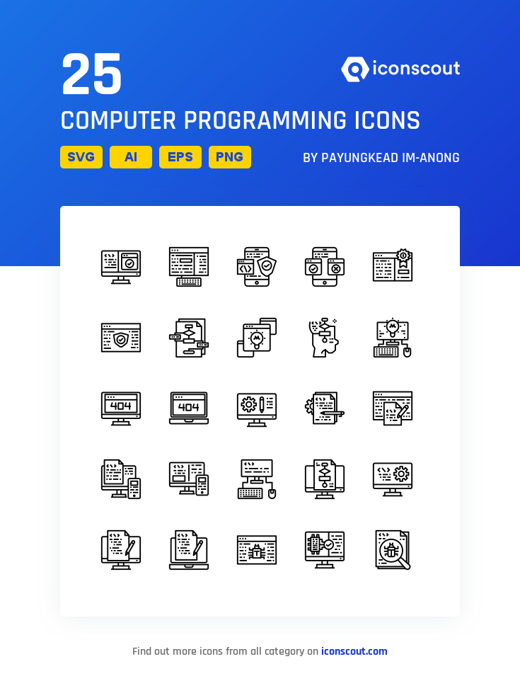 Download Computer Programming Icon Pack Available In Svg Png Eps Ai Icon Fonts With Images Computer Programming Icon Icon Pack