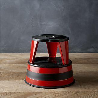 Cramer 174 Kik Step 174 Red Stool I Crate And Barrel La Barrel