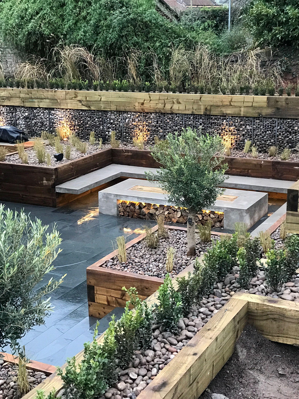 Beautiful Multi Level Garden By Tranquilo Landscapes In Bristol, Uk