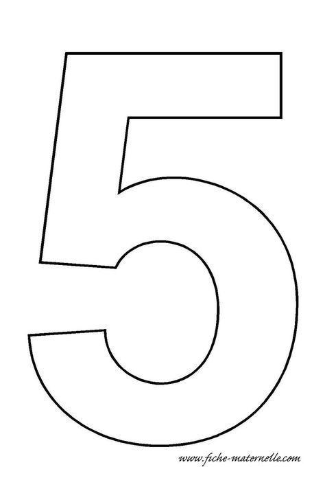 Nummer 5 Vorlage Bastelarbeiten Und Arbeitsblatter