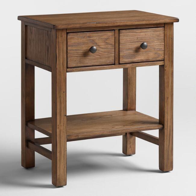 Best Toffee Brown Wood Cory Nightstand V1 Brown Wood 400 x 300