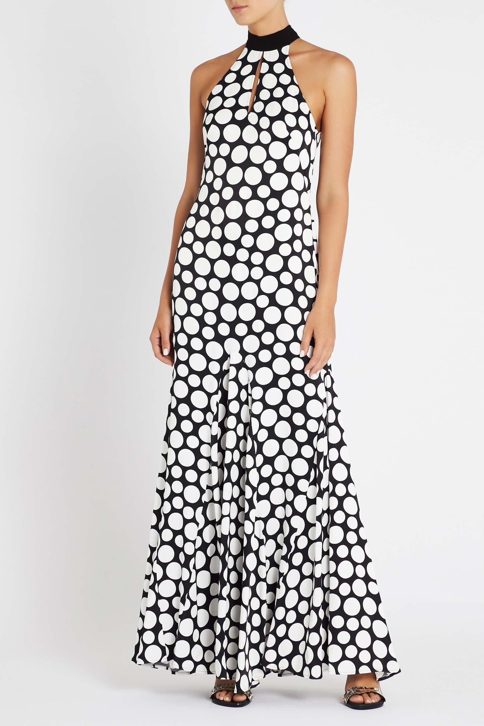 On Point Dress Flared Maxi Spot Dress Sassandbide Sass Bide Australia Shop Online With Afterpay Casual Dresses For Women Flare Maxi Skirt Dresses
