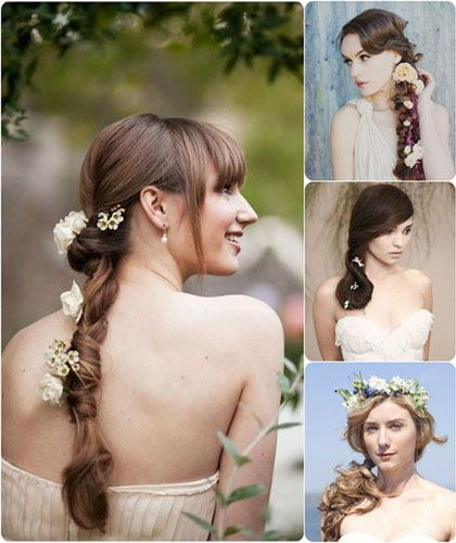 modele de Coafuri cu flori naturale in par | Coafuri păr ...