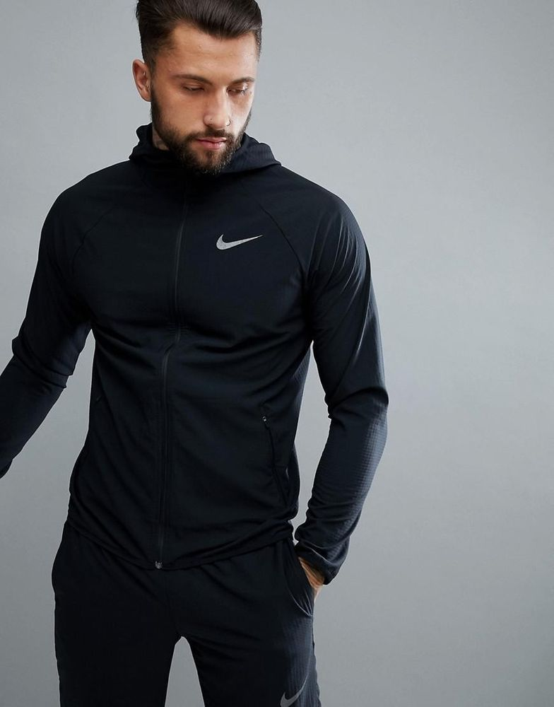 944d70e9cf4b MENS NIKE FLEX HOODED TRAINING HOODIE JACKET STRETCH DRI-FIT BLK 886732-010  2XL  Nike  Jacket