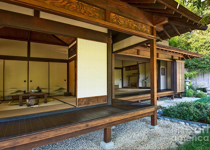 Japanese Tea House At The Huntington Librarys Japanese Garden Greeting Card For Sale By Jamie Pham Japanese Style House Japanese Home Design Traditional Japanese House