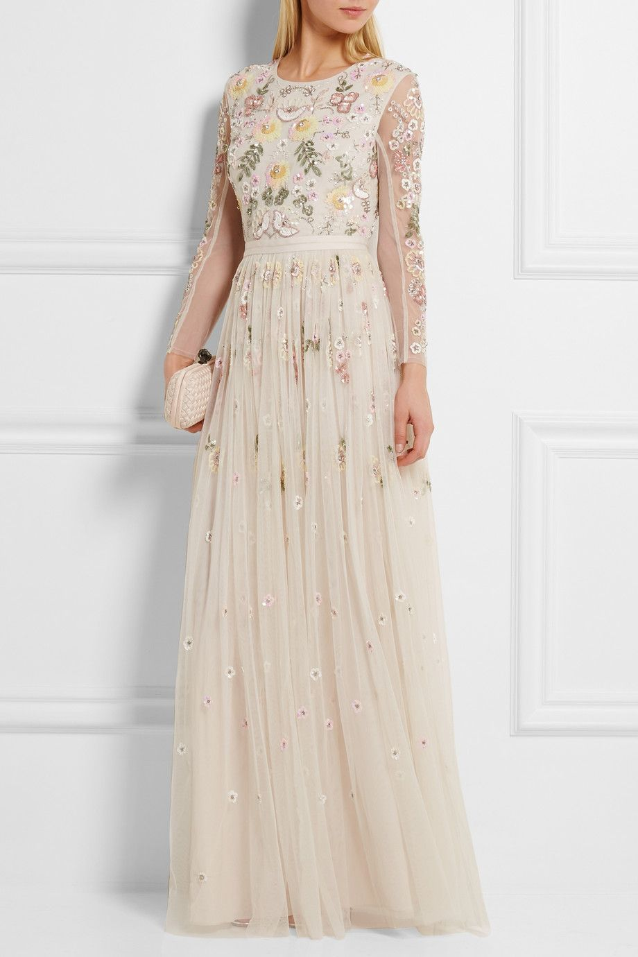 Off-white tulle Button and concealed zip fastening at back 100% nylon; lining: 100% polyester Dry clean Designer color: Chalk/ Ballet Pink Imported