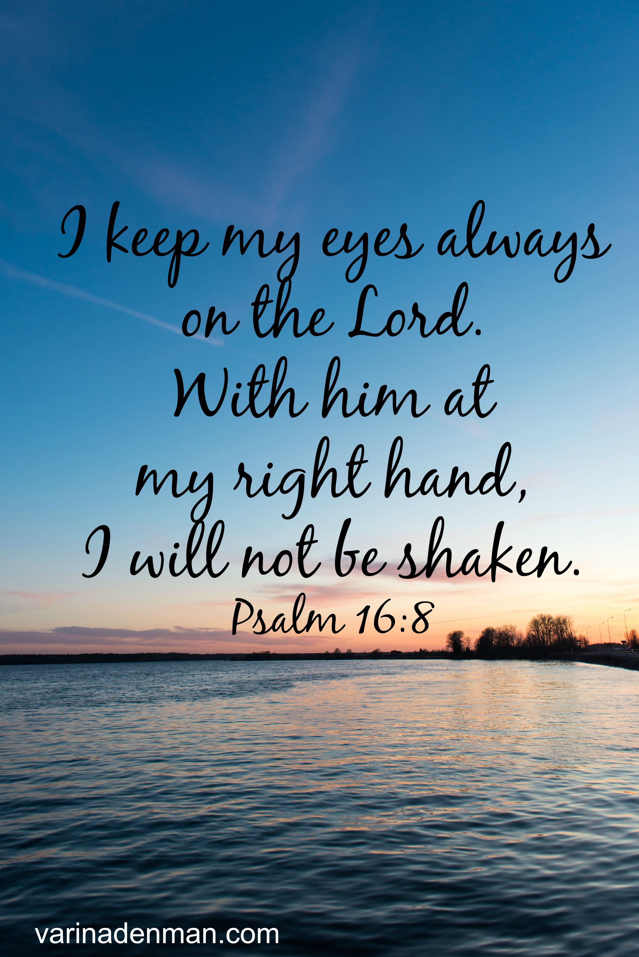 This is so forting I keep my eyes always on the Lord With