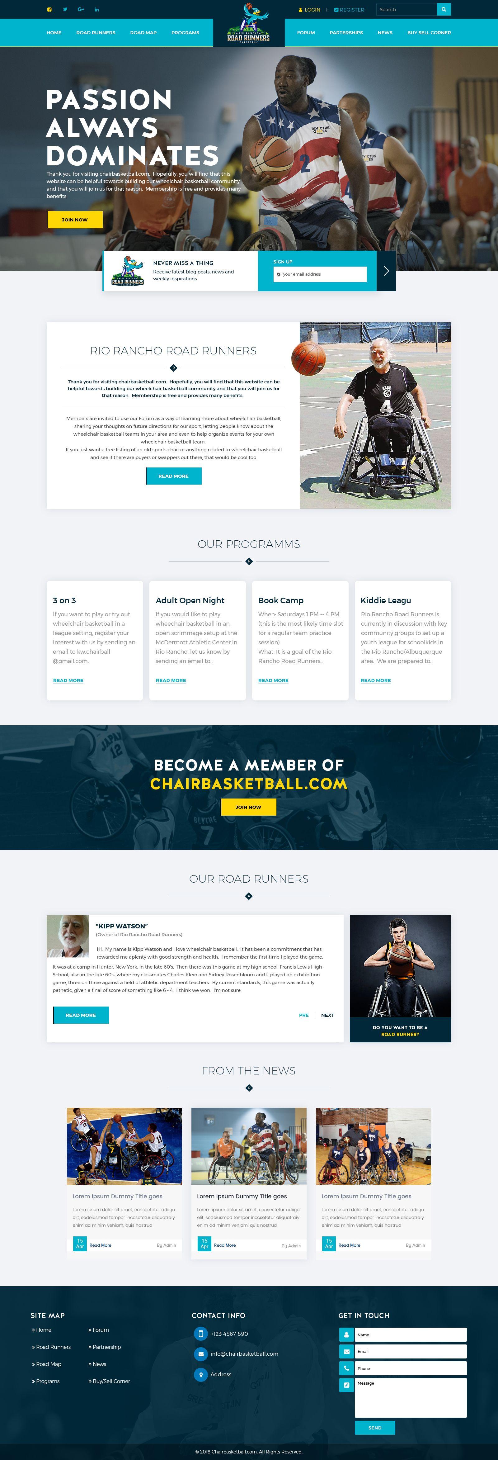 Chair Basketball Website Design Website Design Basketball Camp Basketball