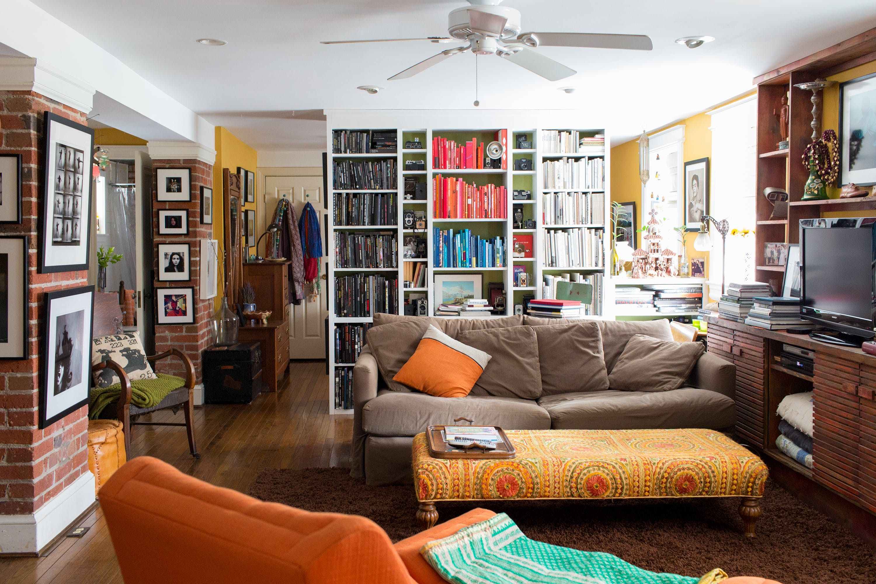 A rainbow hued dc home inspired by frida kahlo ottomans a rainbow hued dc home inspired by frida kahlo geotapseo Image collections