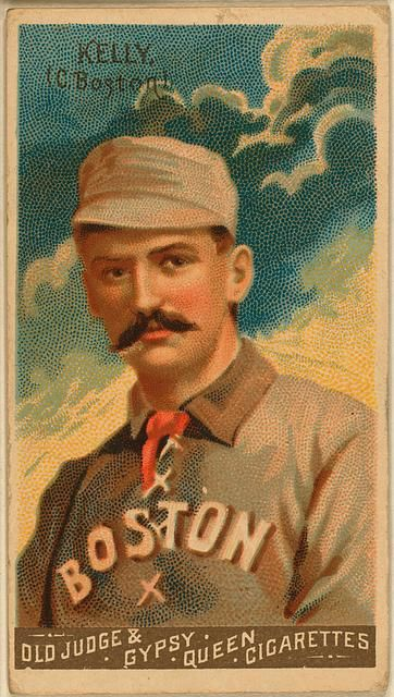 [King Kelly, Boston Beaneaters, baseball card portrait]