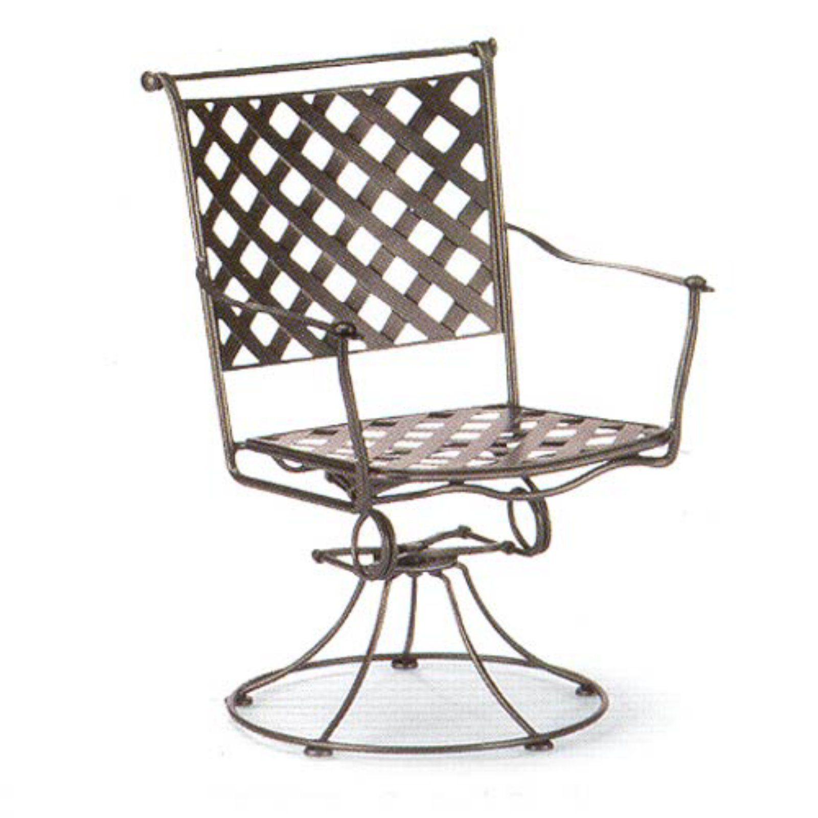 Woodard Maddox Swivel Rocker Dining Chair Patio Dining Chairs