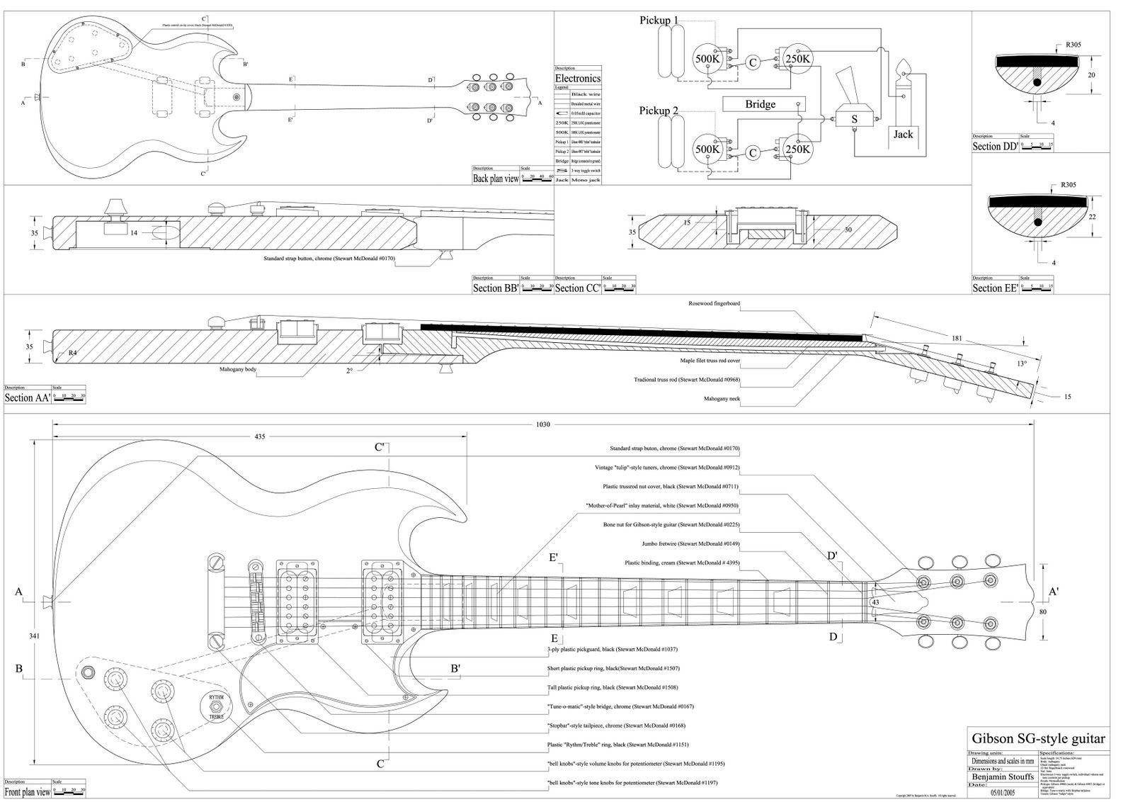 fnder blue print - Pesquisa Google | guitars | Pinterest | Guitarras ...