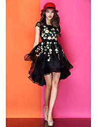 Ronda de cuello de la moda del bordado del vestid... – USD $ 139.97