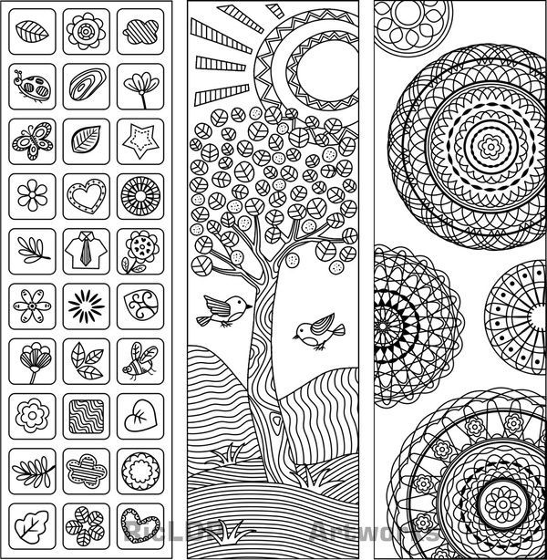 Twenty Adult Coloring Pages Printable Bookmarks Pinterest