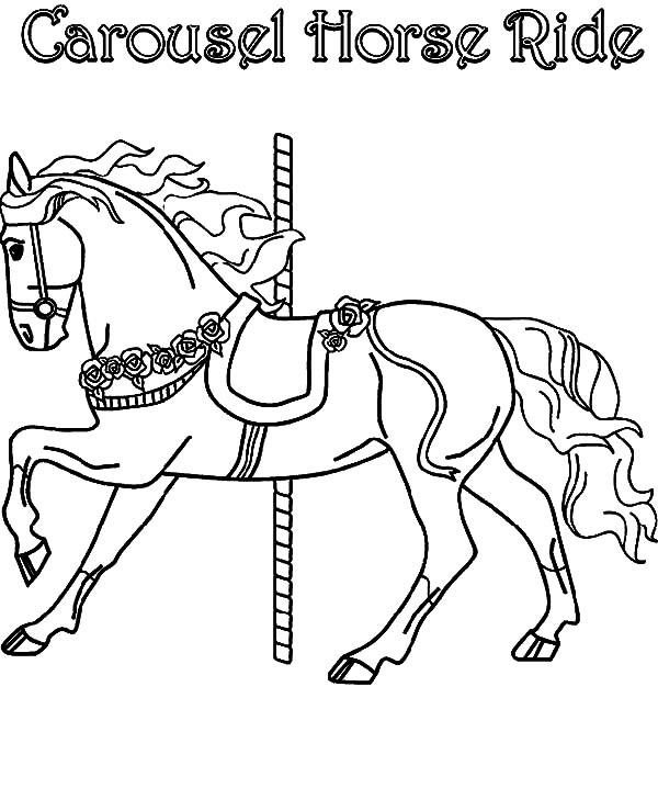Carousel Horse Ride Coloring Pages Best Place To Color Carousel Horses Horse Coloring Pages Coloring Pages